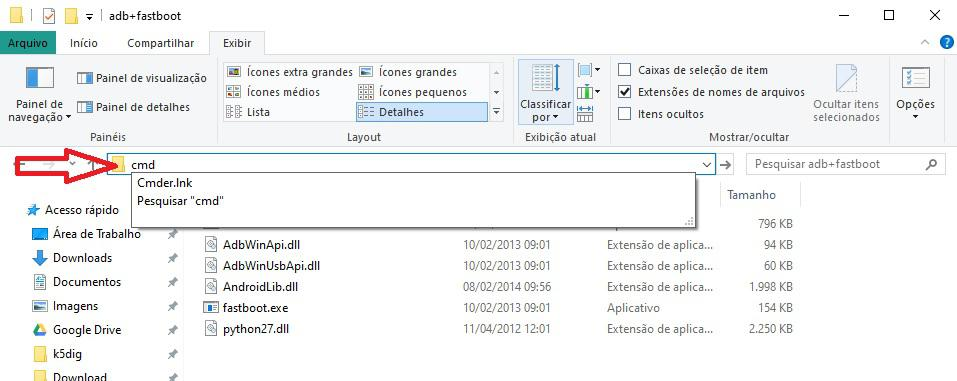 Abrindo o prompt de comando no Windows