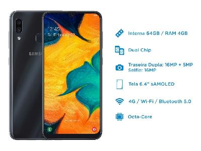 Firmware do Galaxy A30 SM-A305GT