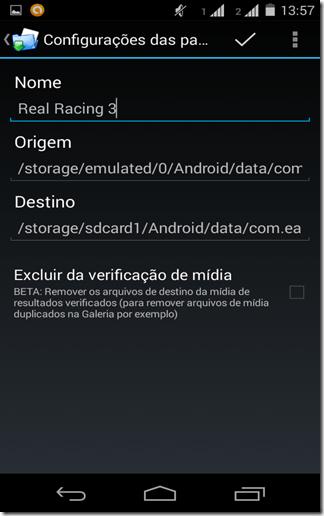 Mova os dados dos seus jogos para o cartão SD com (FolderMount Premium)