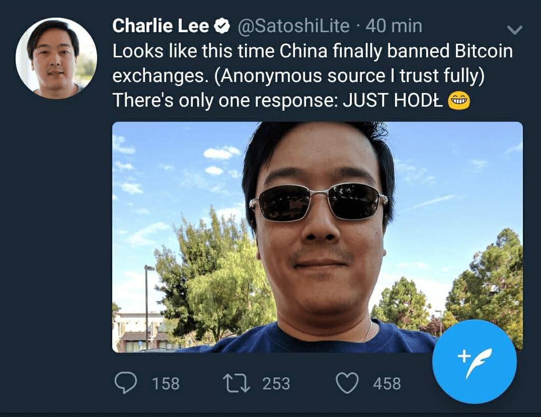 O criador da Litecoin, Charlie Lee