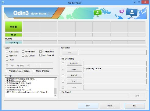 odin - programa usado para instalar o cwm