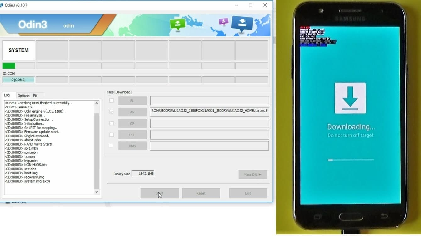 Firmware GALAXY On5 SM-G550T1 Android 6 0 1 Marshmallow Região USA